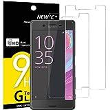 NEW'C Verre Trempé pour Sony Xperia X,[Pack de 2] Film Protection écran - Anti Rayures - sans Bulles d'air -Ultra Résistant (0,33mm HD Ultra Transparent) Dureté 9H Glass