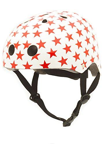 Coconuts Fahrradhelm Größe xs 44cm- 51 cm weiß mit roten Sternen