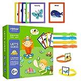 Puzzle Card Game Flashcards Game Card Vamos a adivinar Board Game You're Pulling Me Adivinando Parent Child Juego interactivo Puzzle para niños Cognitive Card Set de juguetes apto para niños de 3 a 6