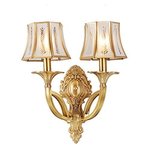 Guo lampes de cuivre de luxe moderne All-cuivre lampe murale en cuivre américain lampe simple mur ( couleur : Double )