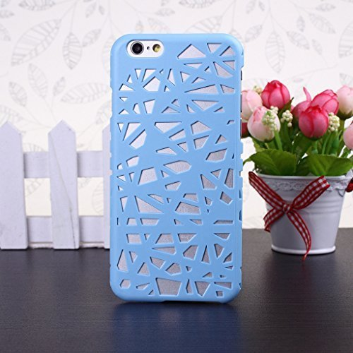 Kunststoff Vogelnest Mesh Hard Cover Fall Haut für Apple iPhone 611,9cm blau