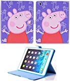 Pour Apple iPad Pro 24,6 cm 2017 et iPad Air 1–2 Peppa Pig Smart Coque avec support