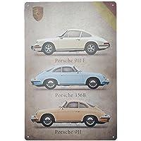 Chaufly Póster Vintage de Hierro para Coche, Placa de matrícula de Barra de Pared Arte Pintura Decoración