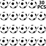 30 Paquets Ballon de Sports Anti-Stress, Mini Ballon de Sports de Compression en Mousse, Balle de Sports de Compression en Mousse pour Récompense de Carnaval Scolaire (Ballon de Football)