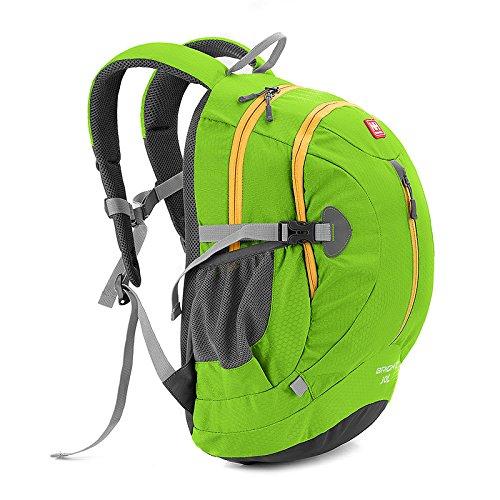 Sporttasche Backpack Duffle bag Tasche Sport Schultertaschen Rucksack Trekkingrucksack Camping Backpack Green+yellow