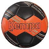 Kempa Leo, Pallone da Pallamano Unisex-Adulti, Fluo Arancio/Nero, 1