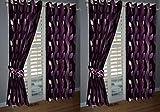 KANHA 4 Piece Polyester Curtains -7 ft ,...