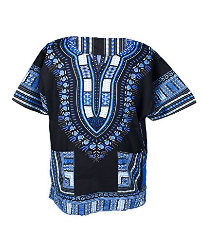 Lofbaz Unisex Dashiki Bohemian Africana Camicia Hippy Viola Taglia S