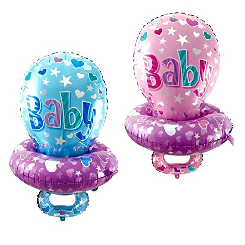(Fenteer Große Baby Schnuller Form Aluminiumfolie Ballon Kinder Geburtstagsparty Dekoration Set/2Stück)