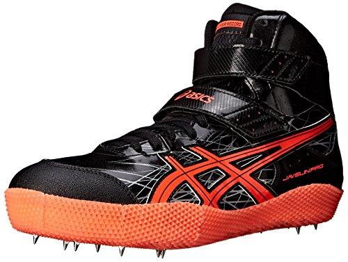 Asics Mens Javelin Pro Track Shoe Black/Flash Coral/Silver