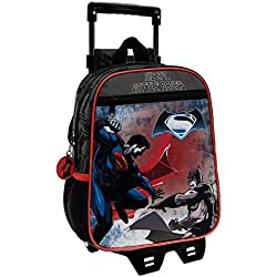 Warner Batman Vs Superman Mochila Infantil, 6.44 Litros, Color Negro