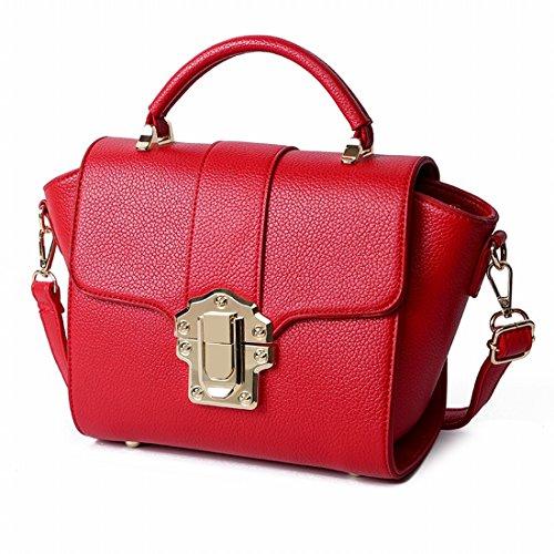 Frauen Schultern Messenger Beiläufige Art und Weise Schlösser Frauen-Hand-Kleider Red Mutter Haarzopf Rot