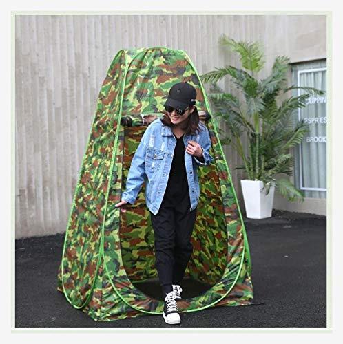 ZHANGji Zelt leicht selbstfahrende Tour warmes Dreieck Vier Jahreszeiten einziges Zelt Camping Toilette im Freien 1 Person Mobile Regen Duschabdeckung Regen