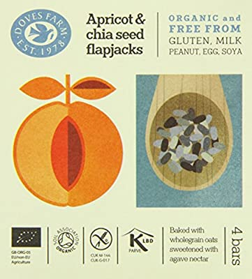 Doves Farm Gluten Free Apricot and Chia Seed Flapjacks Multipack 4 x 35g (Pack of 7)