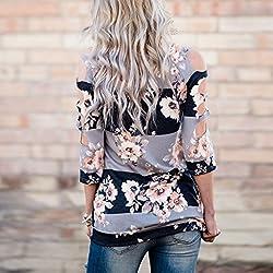Tops , Xinantime Women Summer Loose Casual Print Shirt Tops Floral