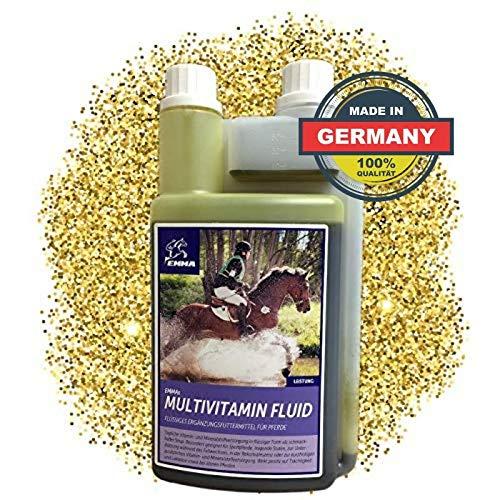 EMMA ♥ Multi-Vitamine für Pferde I Ergänzungsfutter I Mischung mit B-Vitaminen, Zink & Eisen I tragende Stuten, Senioren 1 Liter
