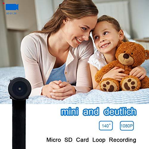 Mini WiFi Telecamera UYIKOO Hidden Spy Camera 1080P HD Telecamera Wireless Rilevazione Movimento con Angolo di visione Ampio Supporto 140 ° per Android/iPhone - 6