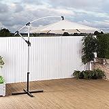 Alfresia 2.7m Cantilever Banana Parasol Sun Shade Outdoor Patio Hanging Umbrella Choice of