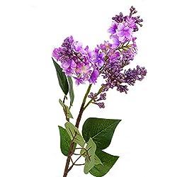 1 Ramo de Flores Artificiales de Color Lila para decoración de Interiores y Exteriores