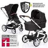 ABC Design Condor 4 (2019) - Kombikinderwagen - XXL Kinderwagen Set 2in1 - inkl. Babywanne, Sportwagen, Regenschutz, Insektenschutz, Sonnensegel - Piano