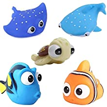 Beach Toys Swimming Pool Toys Baby's Water Bath Time Cute Fish Toys Happy Underwater Story Water Squirt Spray Bathtub Baby Play Children Water Toys