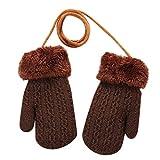 Baby Handschuhe Winter,Covermason Kleinkind Baby Mädchen Jungs Handschuh Draussen Winter Patchwork Warm halten Fäustlinge Handschuhe