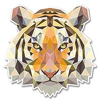 2 x 10cm Tiger Lion Cat Vinyl Sticker Laptop Tablet Helmet Car Wild Animal #6222