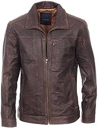 Casa Moda - Herren Jacke aus weichem Leder in der Farbe Braun (14080)