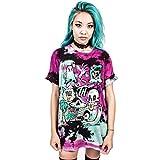 zahuihuiM-Imprimer Hommes Femmes Cute Festival Halloween Tank Top Blouse Punk Rock T-Shirt (S/M, Violet)