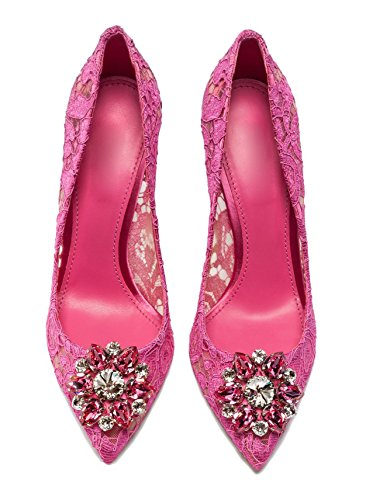 uBeauty - Tacchi alti sexy del merletto - Magnifico Scarpe col Tacco - Tacchi di nozze - Scarpe da sposa Rosa