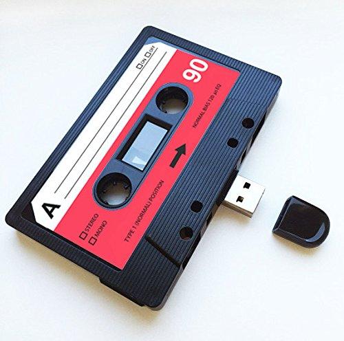 USB, retro, regalo divertido, música, chulo, bonito, amor, regalo, novio, novia, 80s, 90s, informático, oficina, artilugio, novedad, cumpleaños, boda, aniversario, San Valentín, Navidad, regalos para ella, regalos para él, flash drive, subir canciones, fotos y vídeos. (8.0 GB)