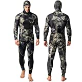 Nataly Osmann Camo Spearfishing Wetsuits Herren 3mm Premium Neopren 2-teilige Kapuzen-Super-Stretch-Tauchanzug