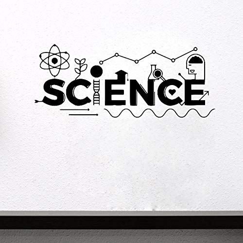 Njuxcnhg Wissenschaft Wandtattoo Vinyl Aufkleber Dekoration Büro Kunst Design Wandbilder Entfernbare Wandaufkleber Klassenzimmer 137X56 cm
