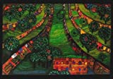 Kunstkarte Friedensreich HundertwasserGrüne Stadt