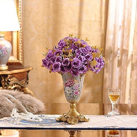 midtawer Vasi Ornamentali in resina emulazione flower-continental creative decorazioni casa artigianato minimalista salotto con