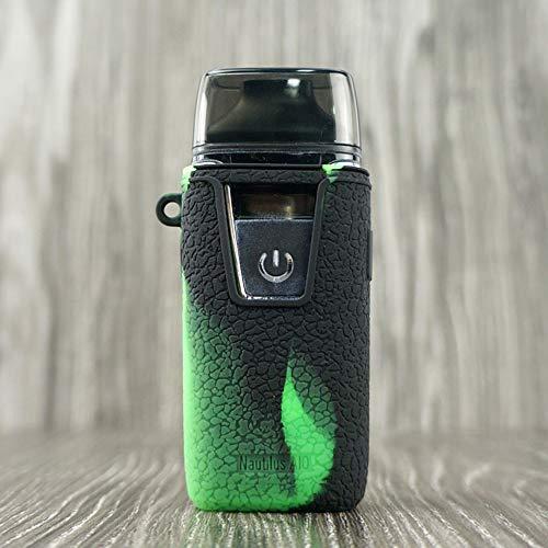 Skin Kit-grün (CEOKS für Aspire Nautilus AIO Hülle, RutschfestSchützende Silikon-Hülle-Abdeckungs-Verpackungs-Haut für Aspire Nautilus AIO Pod Segeln Skin Ärmel Case Cover (Schwarz-Grün))