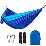 YSBER Parachute Nylon Hammock Double Camping Hammock Lightweight and Portable for Travel, Hiking,sleeping