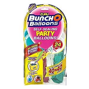 Zuru 51679 Bunch O Balloons Party - Globos de Colores (40 Unidades, en 40 Segundos, 24 Globos y Adaptador, 3 Modelos Diferentes, no es Posible Elegir)