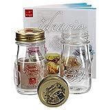 MamboCat 2er Set Quattro Stagioni Flasche 0,20l incl. Bormioli Rezeptheft - als Saft Smoothie Getränke Fläschchen, zur Dekoration oder als Einmachglas, Vorratsglas