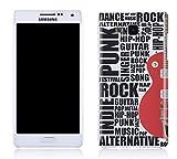 Cell Shell ® Samsung Galaxy A3 Case / Cover / Custodia / Skin Rigida in Plastica / Snap On - Disegno Chitarra (Bianco e Rosso)