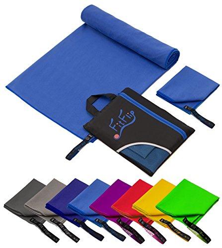 Fit-Flip 100x200cm - 1 Stück/Blau, schnelltrocknende handtücher schnelltrocken handtücher schnelltrocknendes Badetuch schnelltrockenes Handtuch schnell trocken hantücher