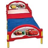 TW24 Kinderbett 140x70cm - Babybett - Jugendbett - 3D mit Motivauswahl (Cars rot/gelb)