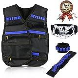 CRMICL Gilet Tactique Enfant, Kit De Veste Gilet Kids Jungle Camouflage Tactical Vest Jacket Kit, Veste tactique kit pour pistolet Nerf N-Strike Elite Cadeau idéal pour garçons