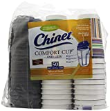 Chinet Comfort Cup (16-Ounce Cups), 50-Count Cups & Lids, Pack of 3