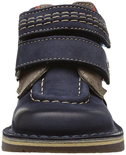 Kickers Wapa, Chaussures Bébé marche mixte bébé Bleu (Marine/Gris)