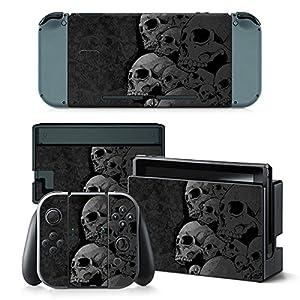 Nintendo Switch Skin Design Foils Aufkleber Schutzfolie Set – Skulls Motiv