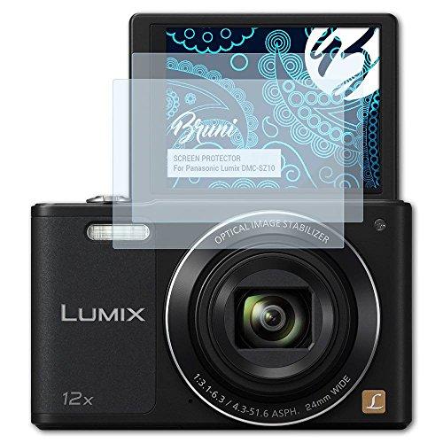 Bruni Schutzfolie für Panasonic Lumix DMC-SZ10 Folie - 2 x glasklare Displayschutzfolie