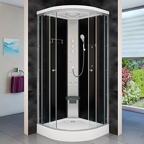 AcquaVapore DTP10-1301 Dusche Duschtempel Duschkabine Fertigdusche 90x90, EasyClean Versiegelung der Scheiben:2K Scheiben Versiegelung +79.-EUR