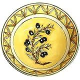 CERAMICHE D'ARTE PARRINI- Italienische Kunstkeramik, Bolus Dekoration Oliven, handgemalt, hergestellt in Italien Toscana