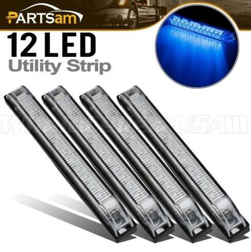 zantec transparent blau wasserfest versiegelte LEDs RV Boot Camper Trailer Licht 12 LED UTILITY Strip Licht 15,2 cm Auto-problem-trailer